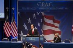 Sen. Pat Toomey que habla en CPAC 2011 Fotografía de archivo