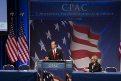 Sen. Pat Toomey speaking at CPAC 2011 Stock Photography