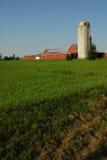 sen silo för eftermiddag royaltyfri bild