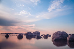 Sen solnedgång Arkivfoto