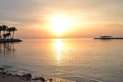 Sen soluppgånghurgada Egypten Arkivfoto