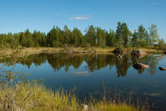 Sen sommar i det finlandssvenska Laplandet Arkivbilder