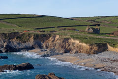 Gunwalloe kyrklig Cove Cornwall Royaltyfri Bild