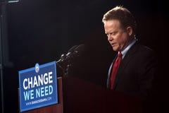 Sen. Webb della Virginia a raduno del Obama Fotografie Stock Libere da Diritti