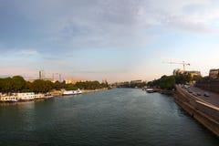 Sena ποταμός, Παρίσι, Γαλλία. Στοκ Φωτογραφία