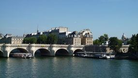 Sena ποταμός στο Παρίσι Στοκ φωτογραφία με δικαίωμα ελεύθερης χρήσης