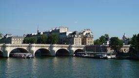 Sena flod i Paris Royaltyfri Fotografi
