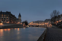 Sena flod, Paris Royaltyfri Foto