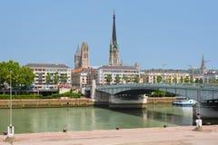 Sena invallning i Rouen Royaltyfria Bilder