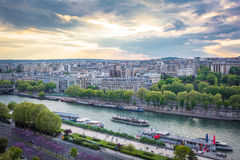 Sena River. View of the Sena River from the Eiffel Tower Royalty Free Stock Images
