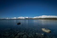 Sena Tekapo under vinter Fotografering för Bildbyråer