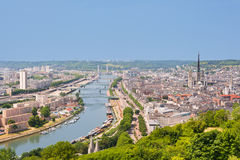 Sena w Rouen Obraz Royalty Free
