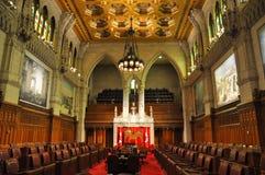 Senaat van het Parlement, Ottawa, Canada stock afbeelding