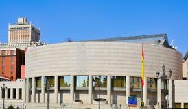 Senado del palacio de España en Madrid, España Imagen de archivo