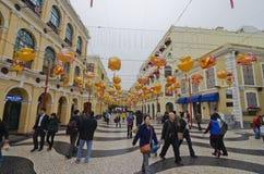Senado kwadrat w Macau obrazy stock