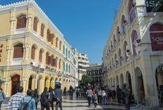 Senado Quadrat, Macau Lizenzfreies Stockfoto