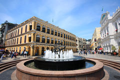 Senado Square, Macao,China stock photography