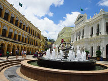Senado Square, Macao, Republic Of China stock image