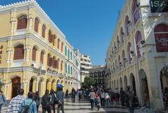 Senado Square, Macau. Royalty Free Stock Photo