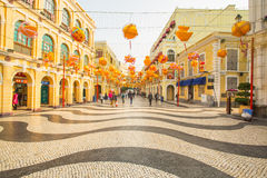 The Senado Square in Macau, China Stock Photos