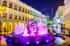 Senado Square of Macau Stock Photo