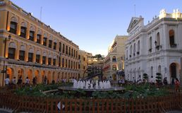 Senado Square in Macau China Stock Photography