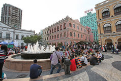 Senado Square of Macau Royalty Free Stock Photos