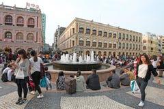 Senado Square of Macau Royalty Free Stock Photo
