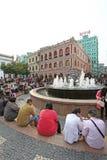 Senado Square of Macau Stock Photo