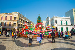Senado Square in Macau Royalty Free Stock Photos
