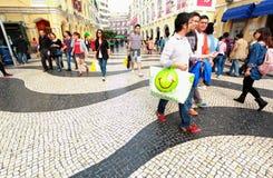 Senado Square Macau Stock Image
