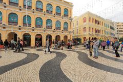 Senado Square Macau Royalty Free Stock Photos