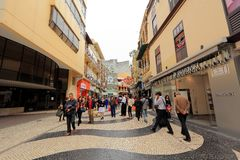 Senado Square Macau Royalty Free Stock Image