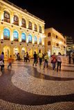 Senado Square by Night, Macau. Royalty Free Stock Image