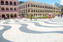 The Senado Square or Senate Square stock photography