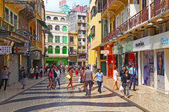 Senado square shopping area, macau Royalty Free Stock Photos