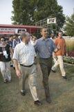 Senador Barak Obama que hace campaña para el presidente Imágenes de archivo libres de regalías