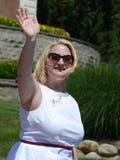 Senador de estado do Michigan Rebekah Warren no Ypsilanti, MI 4o o Foto de Stock
