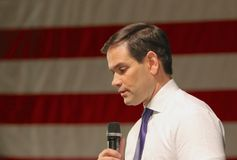 Senador Marco Rubio do candidato presidencial Fotos de Stock