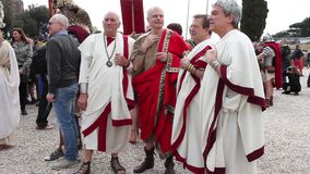 Senadores romanos almacen de metraje de vídeo