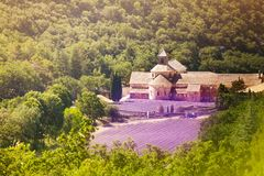Senanque修道院鸟瞰图在普罗旺斯 图库摄影