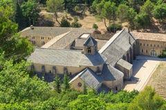Senanque Abbey, Provence, Frankrike Arkivbilder