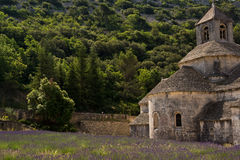 Senanque Abbey and lavender field , Provence, France Royalty Free Stock Image