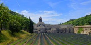 Senanque abbotskloster i Frankrike Arkivbild