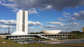 Senate of brasil. Brasilian senate in the capital of brasil Stock Photo