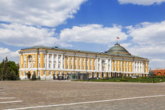 Senate building in the Kremlin, Moscow,. Russia royalty free stock photo