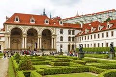 Senate building in Prague. Czech Republic.The Valdstejn Palace w Royalty Free Stock Photos