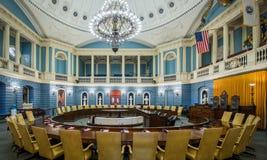 Senate chamber in Boston. Senate chamber in the Massachusetts State House at 24 Beacon Street in Boston, Massachusetts on July 27, 2015 stock photos