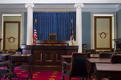 The senate chamber in North Carolina historic capi Royalty Free Stock Photography
