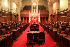 The Senate Chamber, Ottawa. Stock Photo